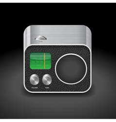 Icon for radio vector image vector image