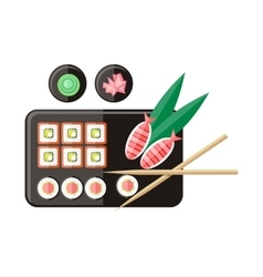 Japanese Food in Flat Style vector image vector image