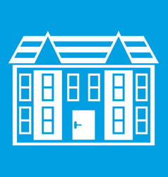 Large two-storey house icon white vector