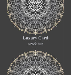 luxury business card with lace ornament vector image vector image