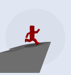 Man jumping from the mountain vector