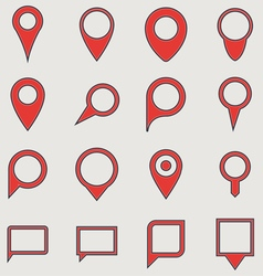 Map pointers vector image vector image
