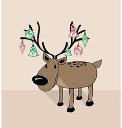 Merry Christmas funny reindeer vector image