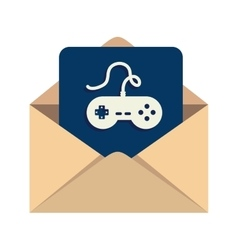 Message game mail inbox vector