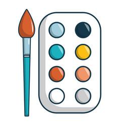 Paint palette icon cartoon style vector