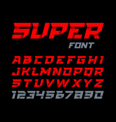 Paper style super font italic type alphabet and vector