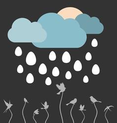 Rain eggs vector image vector image