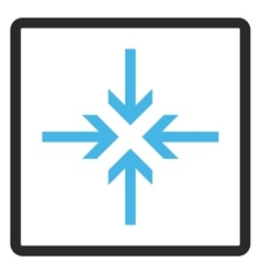 Reduce arrows framed icon vector