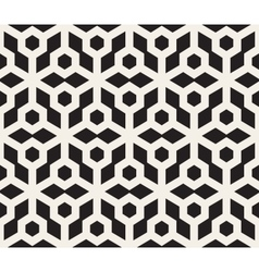 Seamless black and white hexagonal pattern vector