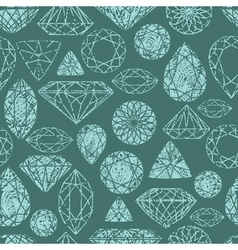 seamless diamond pattern grunge vector image
