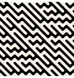 Seamless Hand Drawn Diagonal ZigZag Lines vector image