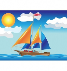 Ship with sails vector