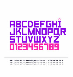 Strict font vector