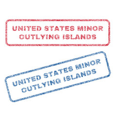 United states minor outlying islands textile vector