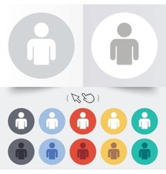 User sign icon person symbol vector