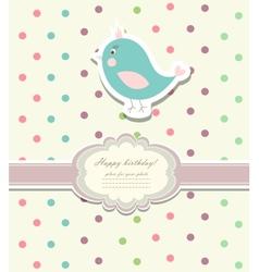 Vintage doodle bird for frame vector image vector image