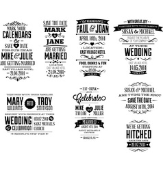 Wedding invite designs vector