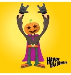 Rock n roll happy halloween greeting card vector