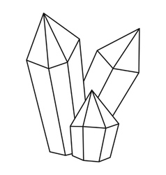 Diamonds icon outline style vector