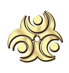 Gold teamwork logo vector image