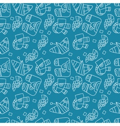 Seamless abstract pattern on a blue background vector