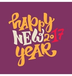 Happy new 2017 year lettering vector
