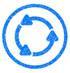 Rotate ccw rounded grainy icon vector