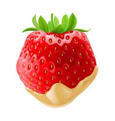 sweet strawberries vector image