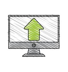 Arrow computer monitor vector