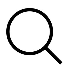 Magnifying glass or loupe the black color icon vector