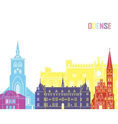 Odense skyline pop vector