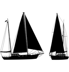 Sailboat silhouettes vector