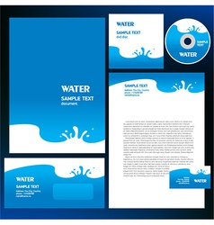 abstract creative corporate identity blue water vector image