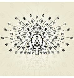 Decorative peacock vector