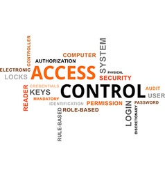 Word cloud access control vector