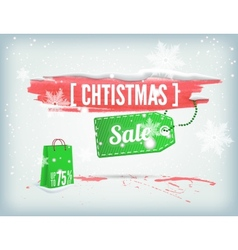 Christmass inky banner vector
