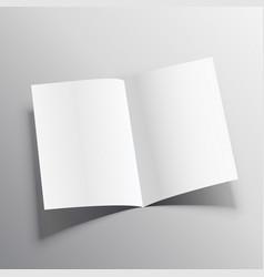 3d realistic paper folder mockup vector
