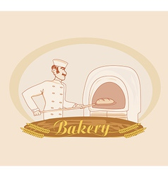 Hand drawn of baker vector