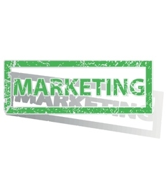 Green outlined marketing stamp vector