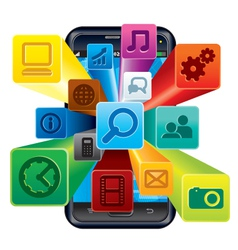 Phone apps vector