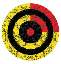 Target with an old shabby yellow and black circles vector