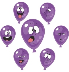 Emotion violet balloon set 005 vector