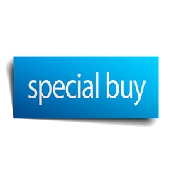 Special buy blue paper sign isolated on white vector