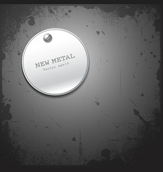 New metal stainless circle design vector