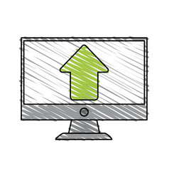 arrow computer monitor vector image vector image