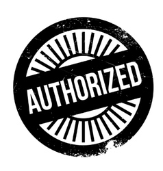 Authorized stamp rubber grunge vector image vector image