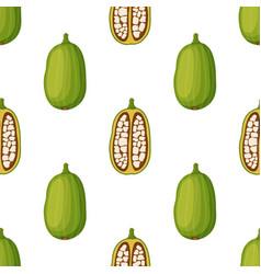 baobab seamless pattern cartoon flat style vector image