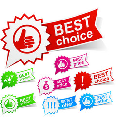 Best color tags vector image