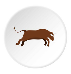 Bull icon circle vector