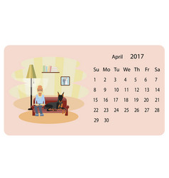 calendar 2018 for april vector image vector image